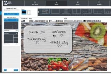 Digital Signage Template Superrmarket